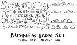Geschäfts-Stadtbild kritzelt Vektorillustration eps10 Stockbilder