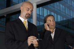 Geschäfts-Team auf den Treppen Lizenzfreie Stockfotografie