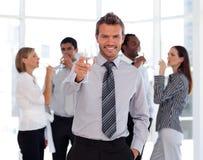 Geschäfts-Team, das Erfolg feiert Lizenzfreies Stockbild