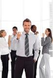 Geschäfts-Team, das Erfolg feiert Lizenzfreie Stockbilder
