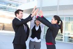 Geschäfts-Team-Feier Stockfoto