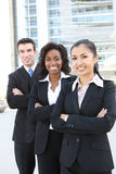 Geschäfts-Team (FOKUS AUF MITTLERER FRAU) Stockfoto