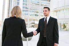 Geschäfts-Team-Händedruck Lizenzfreies Stockfoto