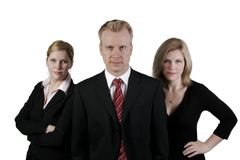 Geschäfts-Team im Studio lizenzfreies stockfoto