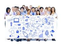 Geschäfts-Team mit strategischer Planung Stockfoto