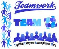 Geschäfts-Teamwork Clipart eingestellt/ENV stock abbildung