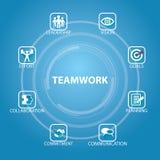 Geschäfts-Teamwork Team Hard Work Concept Auch im corel abgehobenen Betrag lizenzfreie abbildung