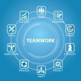 Geschäfts-Teamwork Team Hard Work Concept Auch im corel abgehobenen Betrag vektor abbildung