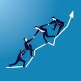 Geschäfts-Teamwork, zum des Erfolgs zusammen zu erreichen Stockfotografie
