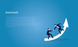 Geschäfts-Teamwork, zum des Erfolgs zusammen zu erreichen Stockbilder
