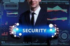 Geschäfts-, Technologie-, Internet- und Netzkonzept Junges busine Lizenzfreies Stockfoto