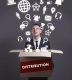 Geschäfts-, Technologie-, Internet- und Netzkonzept Junges busine Stockfoto