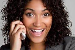 Geschäfts-Telefon-Frau lizenzfreie stockbilder