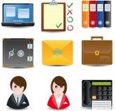 Geschäfts- u. Büroikonen Stockbild