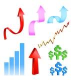 Geschäfts-u. Finanzikonen Stockfoto