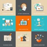 Geschäfts-u. Marketing-Konzepte für Konto-Planung lizenzfreie abbildung