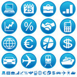 Geschäfts- u. Transportikonen Lizenzfreies Stockbild