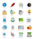 Geschäfts- und Bürohilfsmittelikonen Stockfotos
