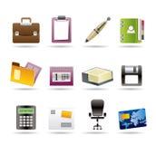 Geschäfts- und Büroikonen stock abbildung