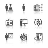 Geschäfts- und Büroikonen Lizenzfreie Stockbilder