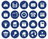 Geschäfts- und Büroikonen eingestellt lizenzfreie abbildung