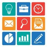 Geschäfts- und Büroikonen eingestellt Lizenzfreie Stockbilder