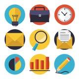 Geschäfts- und Büroikonen eingestellt Stockbild