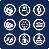 Geschäfts- und Büroikonen (stellen Sie 5, Teil 1) ein Stockfotos