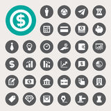Geschäfts- und Finanzfinanzikonensatz Lizenzfreie Stockfotos