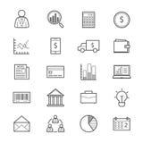 Geschäfts-und Finanzgeld-Ikonen-Linie Lizenzfreies Stockbild