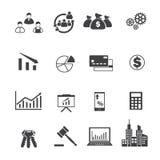 Geschäfts- und Finanzikonen Stockfoto