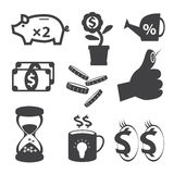 Geschäfts- und Finanzikonenset lizenzfreie abbildung