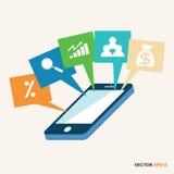 Geschäfts- und Finanzinformationskonzept mit  vektor abbildung