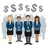 Geschäfts- und Finanzleutevektorillustration Lizenzfreies Stockfoto