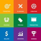 Geschäfts-und Marketing-Ikonen lizenzfreie abbildung