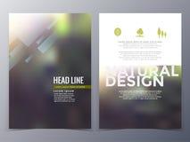 Geschäfts- und Naturbroschürendesign-Schablonenvektor Stockfoto