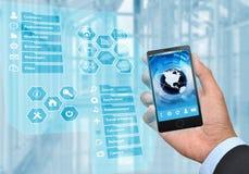 Geschäfts- und Smart-Telefon Lizenzfreies Stockbild