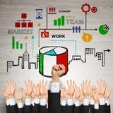 Geschäfts- und Teamwork-Konzept Stockfotos