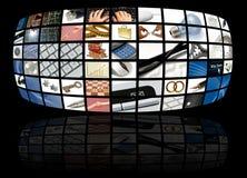Geschäfts- und Technologieaufbau Stockfoto