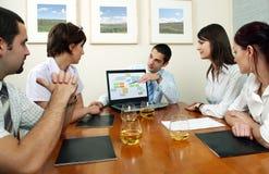 Geschäfts-Vermittlungen Lizenzfreies Stockfoto