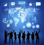 Geschäfts-Vernetzung mit Infographic-Vektor Lizenzfreie Stockbilder