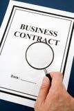 Geschäfts-Vertrag lizenzfreie stockfotos