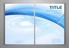 Geschäfts-vordere und hintere Flieger-Schablone Lizenzfreies Stockfoto