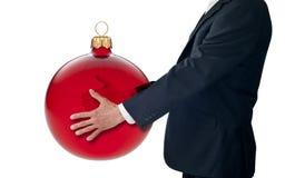 Geschäfts-Weihnachtsgeben stockbild