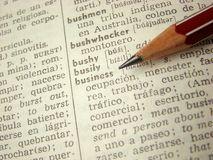 ?Geschäfts? Wortverzeichnis Lizenzfreie Stockfotos