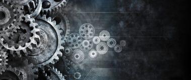 Geschäfts-Zahn-Technologie-Hintergrund Stockfotos