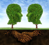 Geschäfts-Zusammenarbeit und Wachstum Stockfoto