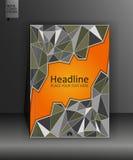 GeschäftsAbdeckung Schablone in A4 Lizenzfreie Stockfotografie