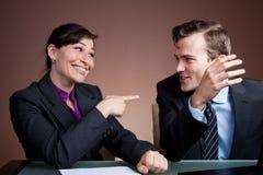 Geschäftsabkommen, das geschlagen wird Lizenzfreies Stockbild