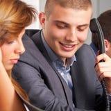 Geschäftsanruf Stockfoto